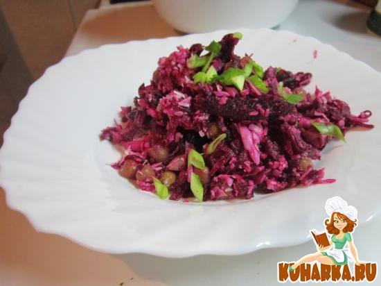 Рецепт Салат из свеклы и яиц