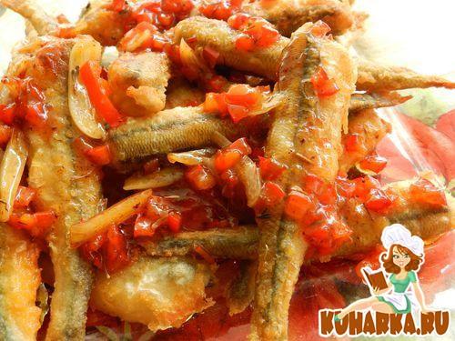 Рецепт Корюшка жареная, с тимьяном и соусом чили