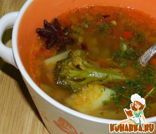 Рецепт Овощной суп с красной чечевицей