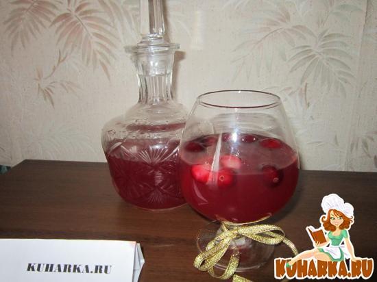 Рецепт Водка с клюквой и лимоном