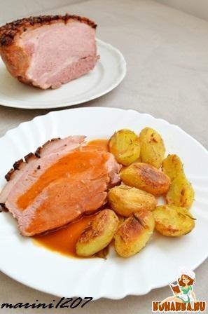 Рецепт Свинина с хрустящей корочкой (Krustenbraten)