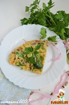 Рецепт Омлет со спагетти