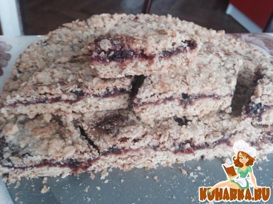Рецепт Овсяное печенье с джемом