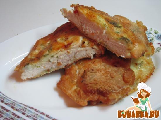 Рецепт Куриные отбивные с сыром
