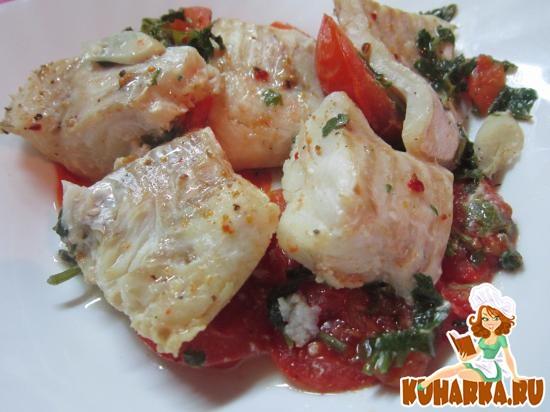Рецепт Рыбное филе с помидорами и душистыми трвами