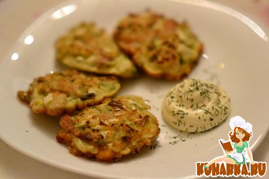 Рецепт Капустные оладушки с куриным мясом