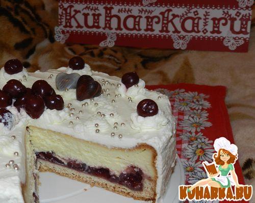 "Рецепт Торт ""Вишнёвый Валентин"""