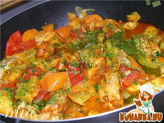 Рецепт Овощное рагу с индейкой