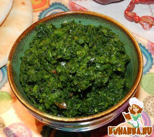 Рецепт Зелёная аджика