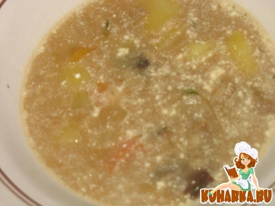 Рецепт Суп грибной перловый на мясном бульоне