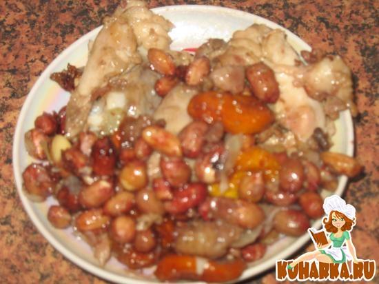 Рецепт Курица, тушенная с арахисом