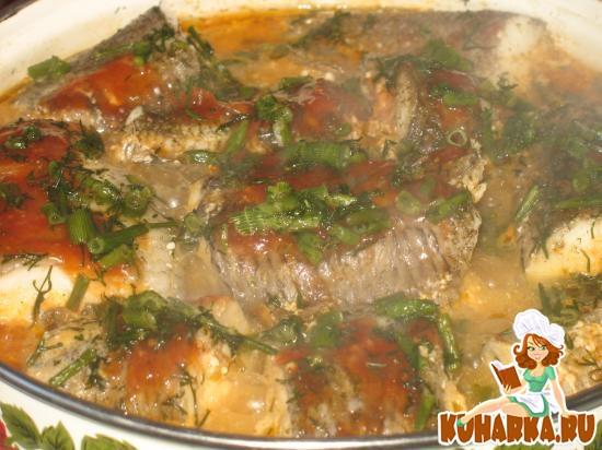 Рецепт Рыба с капустой, припущенная в молоке
