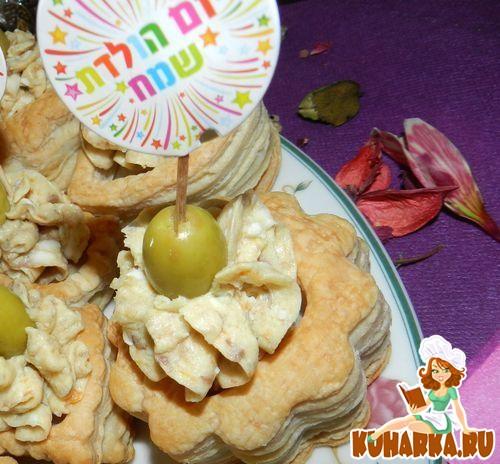 Рецепт Волованы с селёдочным паштетом