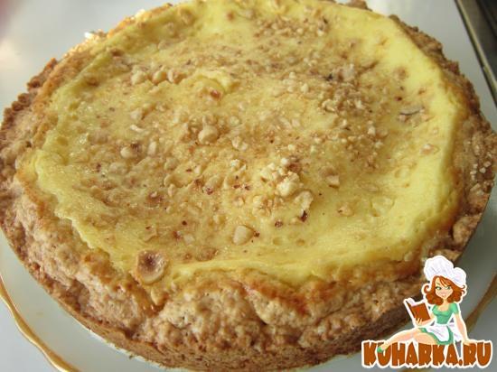 Рецепт Пирог с творогом и фундуком