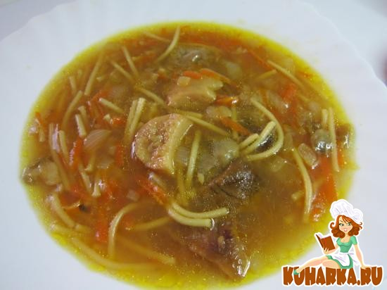 Рецепт Грибной суп с вермишелью