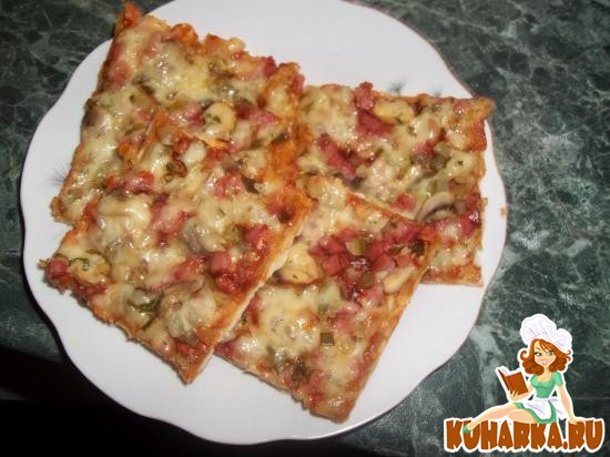 "Рецепт Пицца ""Вкусняшка"""