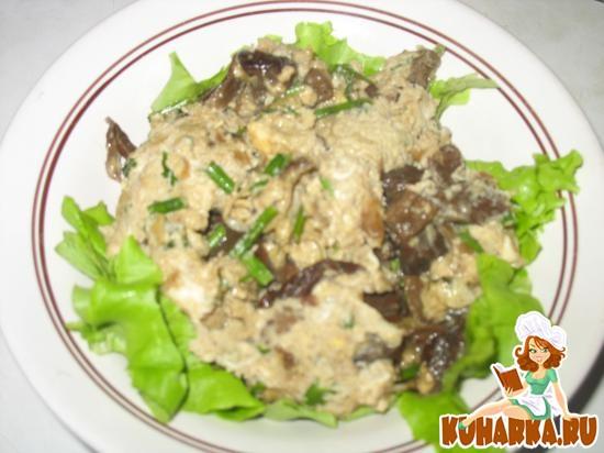 Рецепт Омлет с сушеными грибами
