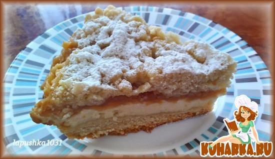 Рецепт Быстрый пирог с творогом и яблоками