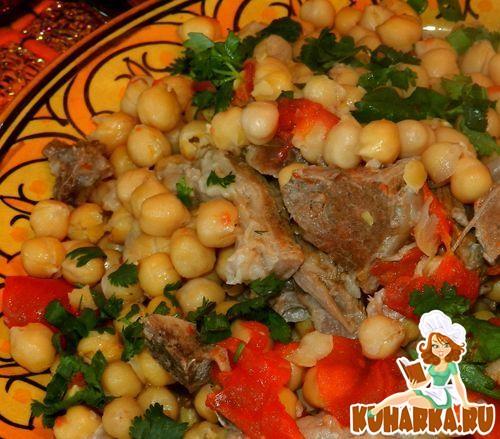 Рецепт Гуштнут (мясо,тушенное с горохом нут)