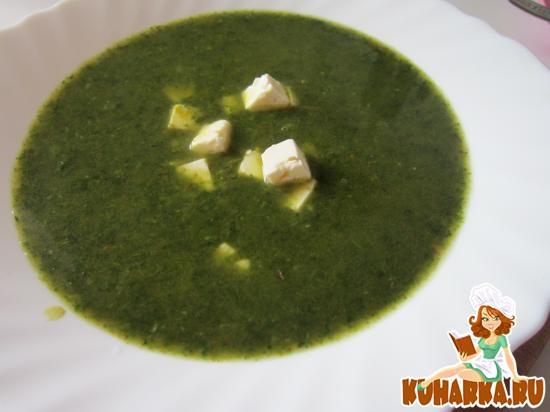 Рецепт Щи зеленые с брынзой