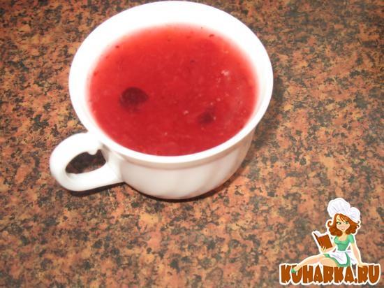 Рецепт Клюквенный кисель (с ягодами)