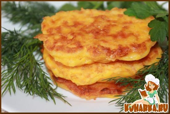 Рецепт Морковно-сырные оладьи