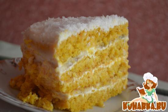 Рецепт Морковно-овсяный тортик