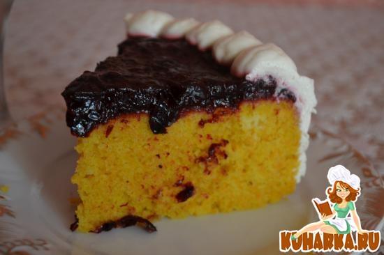 Рецепт Морковный кекс со смородиновым желе и взбитыми сливками