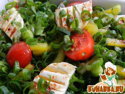 Рецепт Многослойный салат с пряным соусом