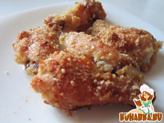 Рецепт Хрустящие куриные крылышки в духовке
