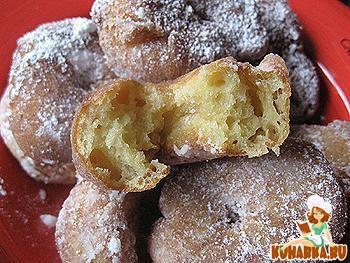Рецепт Творожные пышки ( пончики).