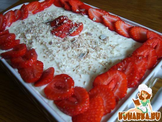 Рецепт Клубничный десерт, с печеньем Кантуччини- Erdbeer-Cantuccini-Dessert
