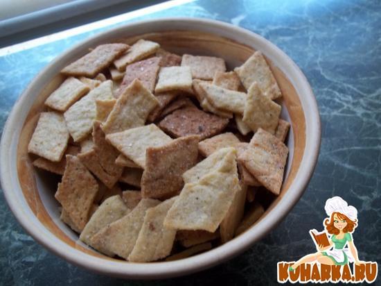 Рецепт Сырные крекеры