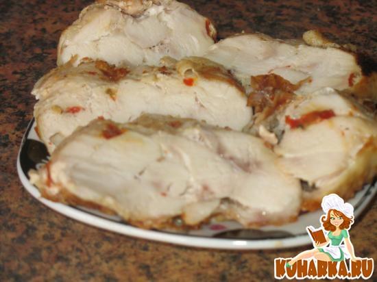 Рецепт Из одной куриной грудки - четыре блюда