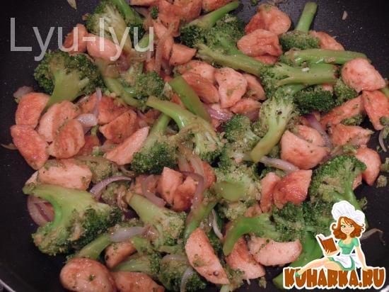 Рецепт Рыбные шарики со вкусом лобстера с брокколи