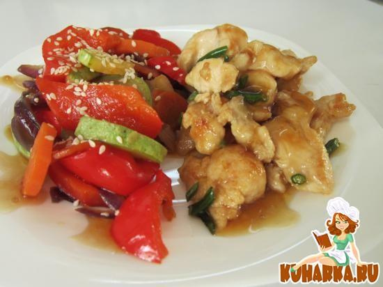 Рецепт Курица с овощами по восточному
