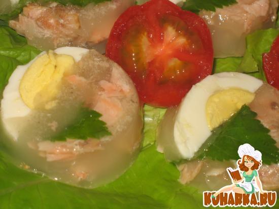 Рецепт Заливное из голов-хвостов горбуши
