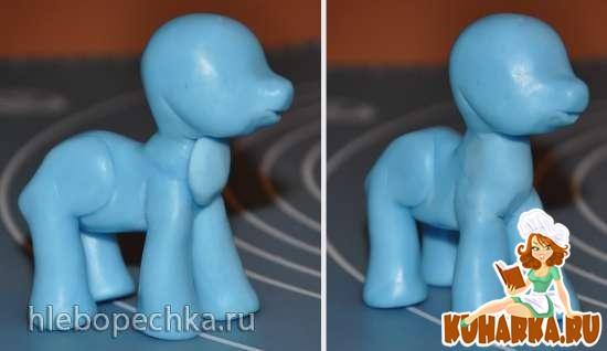 Как сделать из мастики пони пошагово