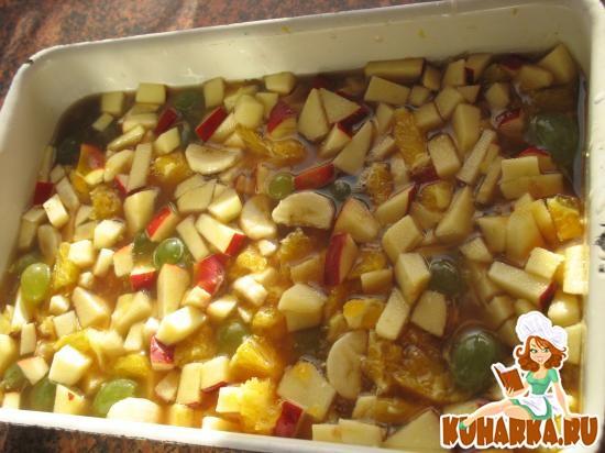 Рецепт Желе из фруктов и сиропа от варенья.