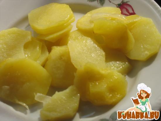 Рецепт Картошка со сливочным маслом и чесноком в микроволновке