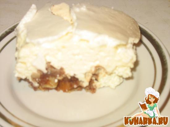 Рецепт Пирог из песочного печенья с творогом и безе