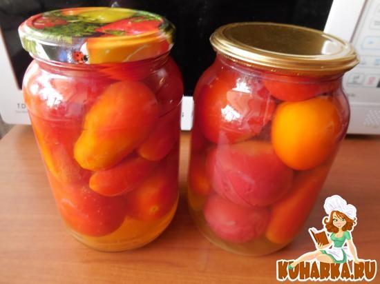 Рецепт Помидоры в яблочном соке из недозрелых яблок