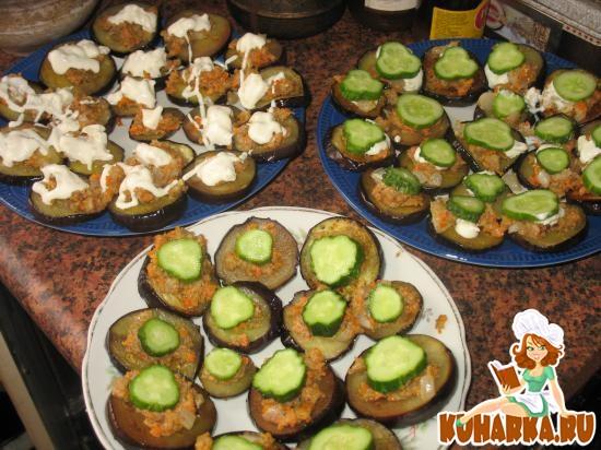 Рецепт Баклажаны жареные с морковно-ореховой намазкой