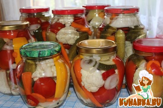 Рецепт Овощное ассорти на зиму
