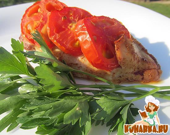 Рецепт Куриная грудка с помидорами в Fitness гриле