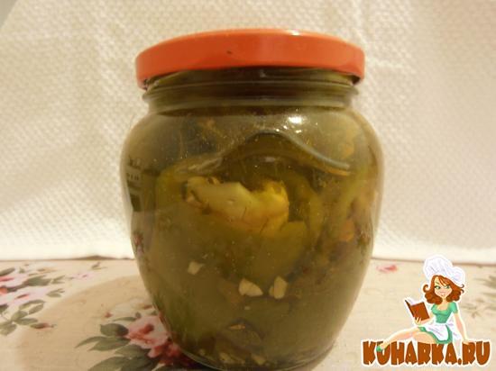 Рецепт Перец, фаршированный баклажанами