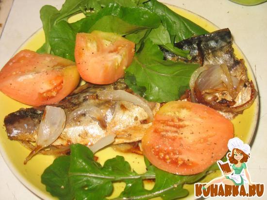 Рецепт Филе скумбрии, жаренное в луке
