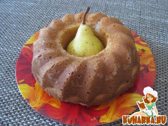 Рецепт Творожный кекс с грушами
