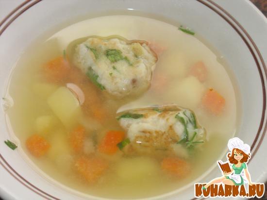 Рецепт Суп рыбный с подпеченными фрикадельками из отварной рыбы