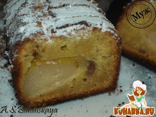 Рецепт Творожный кекс с грушей